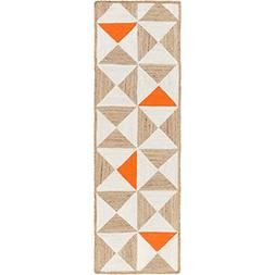 Art of Knot Cottica Area Rug, 2'6 x 8' Neutral/Orange