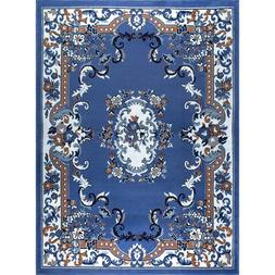 Country Blue Traditional Floral Area Rug Home Decor Rug Floo
