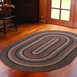 IHF HOME DECOR Country Style Oval Area Floor Carpet Braided