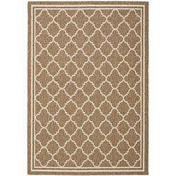 Safavieh Courtyard Collection CY6918-242 Brown and Bone Indo