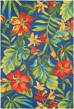 Couristan Covington Tropical Orchid Indoor/Outdoor Area Rug,