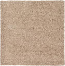 A2Z Rug Cozy Shaggy Collection 8x8-Feet Solid Area Rug - Tau