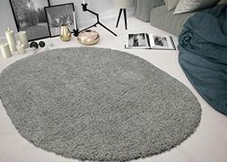 Sweet Home Stores COZY2763-OVAL Shaggy Rug, 5'3 X 7' Oval, G