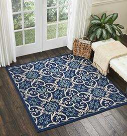 "Nourison CRB02 Caribbean Indoor Outdoor Area Rug, 7'10"" x 10"
