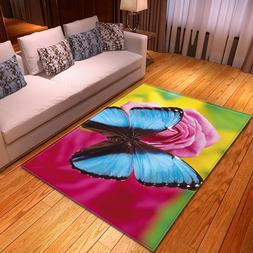 Creative Butterfly 3D Print Carpets for Living room bedroom