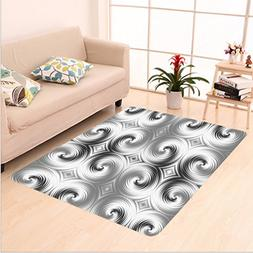 Nalahome Custom carpet res Decor Symmetric Spiral Forms with