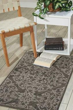 Nourison Damask Contemporary Area Rug, 2 Feet 3 Inches By 3