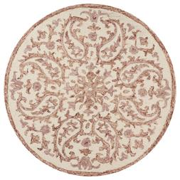 Dazzle Ivory / Red 4 ft. x 4 ft. Floral Paisley Indoor Area