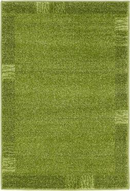 Unique Loom Del Mar Collection Light Green Area Rug 2x3