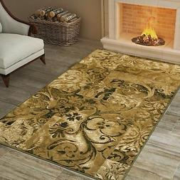 Superior Designer Modern Scroll Area Rug  - 4' x 6'