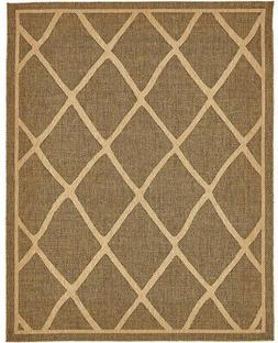 Unique Loom Diamonds Outdoor Brown Indoor/Outdoor Area Rug (