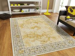 Distressed Area Rugs 8x10 Yellow Rug 5x7 Living Room Rugs Ru