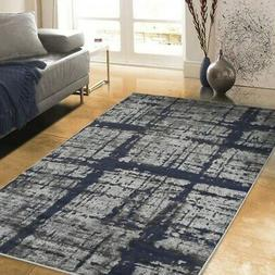 Allstar Rugs Distressed Gray and Charcoal Grey Rectangular A