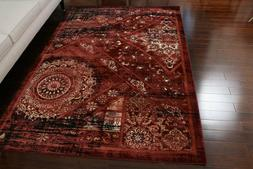Dusty Red Salmon Traditional Antique Wool Area Rug 2x3'4