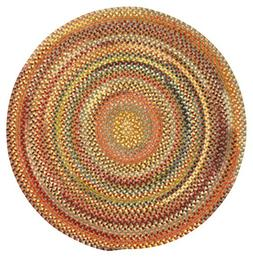 Capel Rugs Eaton Round Braided Area Rug, 3', Grey
