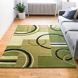Echo Shapes & Circles Light Green Modern Geometric Comfy Cas