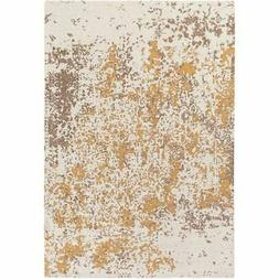 Artistic Weavers Egypt Lara Beige and Gold Rectangular: 2 Ft