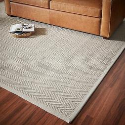Rivet Elevated Chevron Patterned Area Rug, 8' x 10', Grey St
