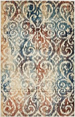 Unique Loom Ethereal Collection Abstract Vintage Blue Home D