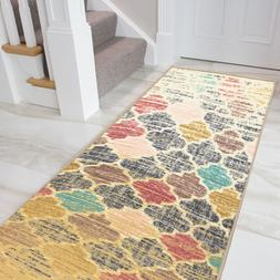 "Fancy Moroccan Trellis Rubber-backed Nonslip Area Rug 20""x59"