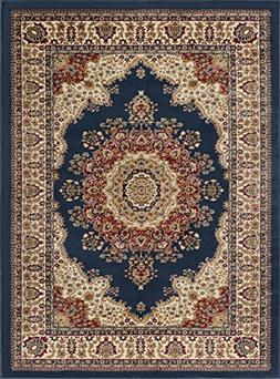 Universal Rugs Fiona Traditional Oriental Navy Rectangle Are