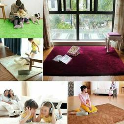 Fluffy Anti-Skid Shaggy Area Rug Yoga Carpet Home Dining Roo