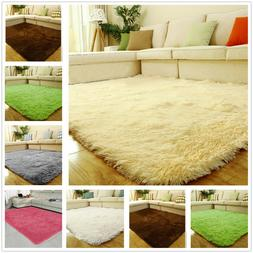 Fluffy Rug Anti-Skid Shaggy Area Rugs Carpet Floor Mat Home