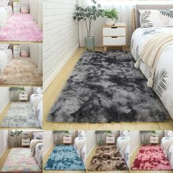 Fluffy Rugs Anti-Skid Shaggy Area Rug Carpet Dining Room Hom