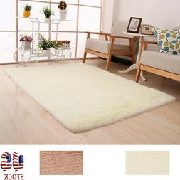 Fluffy Rugs Anti-slip Shaggy Area Rug Dining Room Bedroom Ca