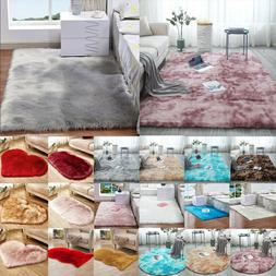 Fluffy Rugs Anti-Slip SHAGGY RUG Carpet Mat Living Room Floo