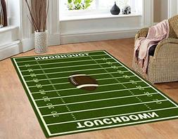 """FURNISHMYPLACE All Stars Football Ground Kids Rug Size 6'7"""""""