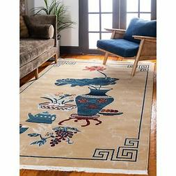 Unique Loom Gansu Ceremony Brown Area Rug - 9' x 12'