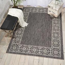 Nourison Garden Party GRD03 Charcoal Indoor/Outdoor Area Rug
