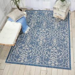 Nourison Garden Party GRD04 Denim Indoor/Outdoor Area Rug 5