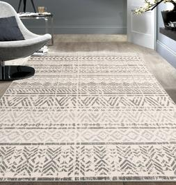 geometric bohemian design area rug