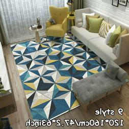 Geometry Non-slip Living Room Area Rugs Kitchen Bedroom Floo