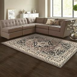 Superior Glendale Collection  Brown Oriental Design 4' x 6'