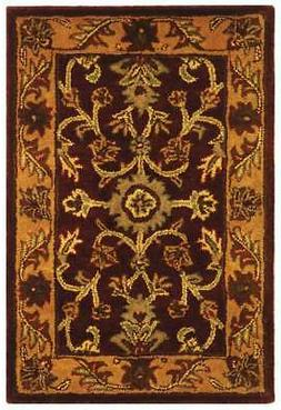 Safavieh Golden Jaipur BURGUNDY Wool Area Rug 2' x 3'