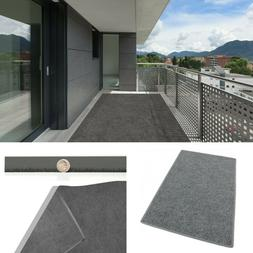 Gray Indoor Outdoor Area Rug with Latex Backing Carpet Many