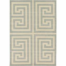 Unique Loom Greek Key Athens Area Rug - 7' x 10'
