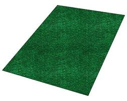 Green Indoor Outdoor Area Rug Carpet with Latex Backing Many