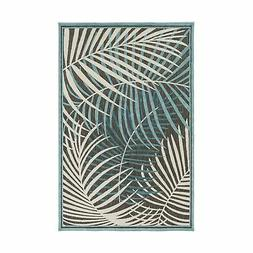 """Art of Knot Guaral Area Rug Teal 5' x 7'6"""""""