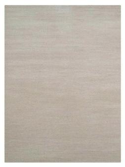 Hand Knotted Wool 10'x13' Area Rug Solid Beige BBH Homes BBL