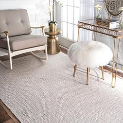 nuLOOM Hand Loomed Diamond Cotton Check Flat Woven Area Rugs