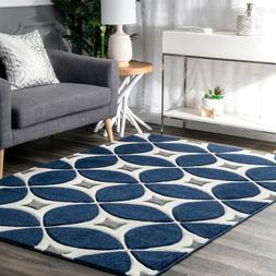 nuLOOM Hand Made Contemporary Geometric Trellis Area Rug in