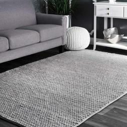 nuLOOM Hand Made Contemporary Modern Braided Wool Area Rug i