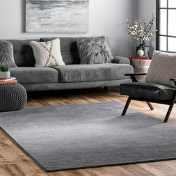 nuLOOM Hand Made Contemporary Modern Ombre Area Rug in Grey