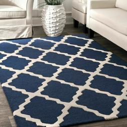 nuLOOM Hand Made Moroccan Trellis Contemporary Modern Wool A