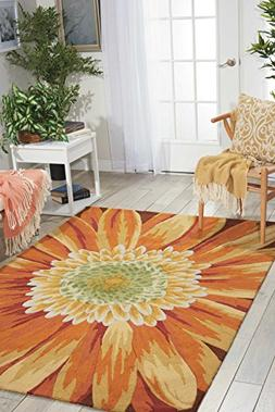 Hand-hooked Florent Yellow Rug