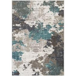 Harkness Teal 5 ft. 3 in. x 7 ft. 3 in. Area Rug